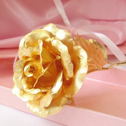 24K 6-Inch Gold Foil Rose - Best Valentine's Day Gifts - Handcrafted & Last Forever