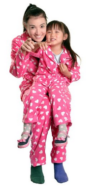 Angelina Hosiery Womens Fleece Pajama Set