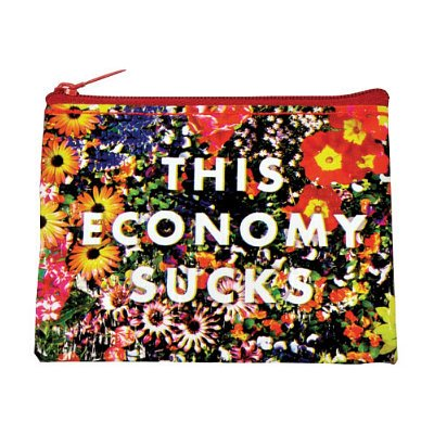 Blue Q This Economy Sucks Recycled Coin Purse