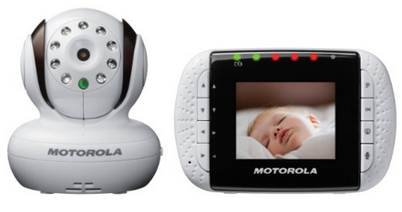 Motorola MBP33 Wireless Video Baby Monitor with Infrared Night Vision and Zoom 2.8inch Color LCD