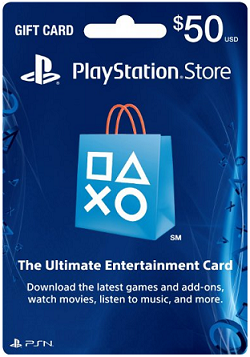 Sony 50 Dollar Playstation Network Card Online Game Code