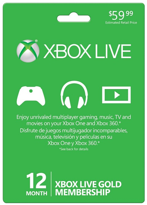 XBL-Xbox Live Membership Gold Codes
