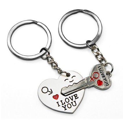Fiance Valentines Day Gifts Keychain Key Ring