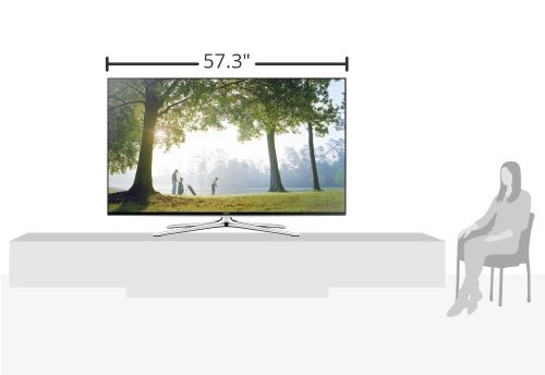 View of Samsung UN65H6350 Screen