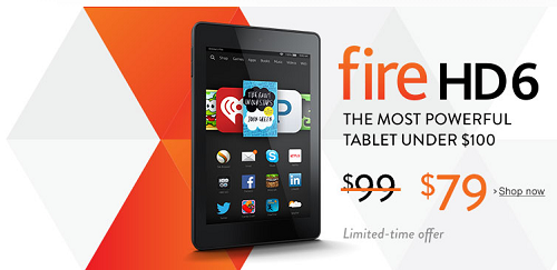 $20 Off Fire HD 6 - $79
