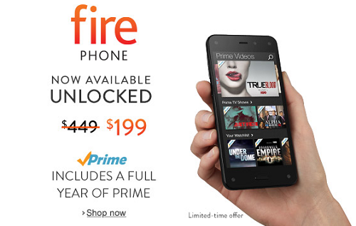 $250 Off Fire Phone Unlock GSM - $199