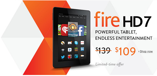 $30 Off Fire HD 7 - $109