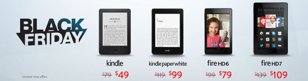 Kindles On Sale For Black Friday