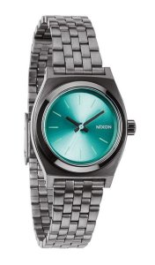 Nixon Blue Dial Gunmetal Polyurethane Ladies Watch A3991697