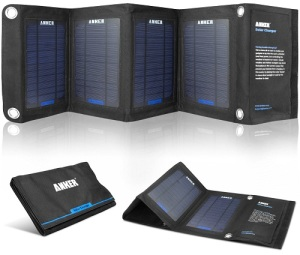 Anker 14w Solar Panel Foldable Dual Port Solar Charger
