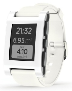 Pebble Smart White Watch for iOS and Android