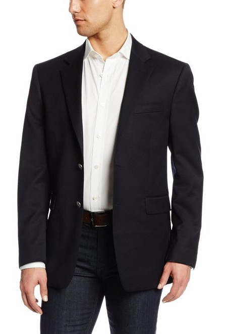 Two-Button Center-Vent Navy Blazer Nautica For Mens