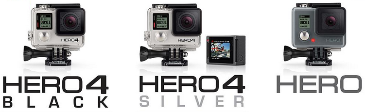 Difference Between GoPro 4 Black and Silver - Hero