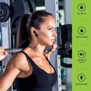Bluetooth Workout Headphones by Audiopure - Perfect for Small Women's Ear