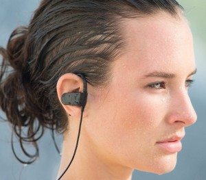 Women with Photive PH-BTE70 Review - Best Earbuds Deep Bass and Sweatproof