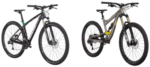 Hardtail vs Softail Mountain Bike