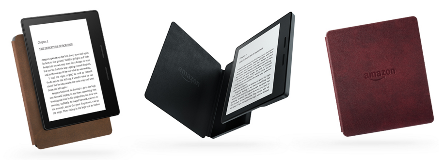 New Kindle Oasis 3 Colors Removable Leather Charging Cover