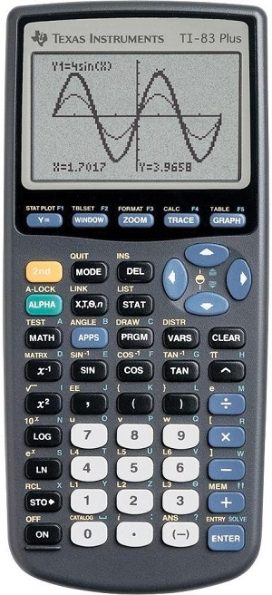TI 83+ Texas Instruments Graphing Calculator