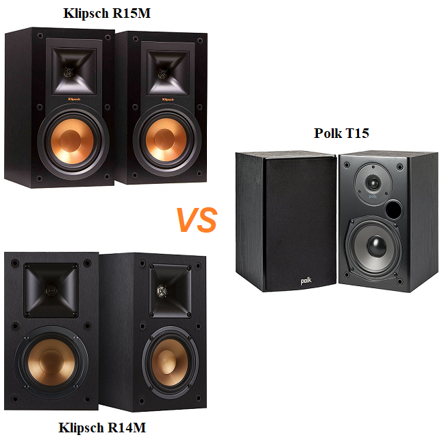 Here Is Comparison Both Of Affordable Bookshelf Speakers Between Klipsch And Polk Audio Top Brand RM14 RM15 T15